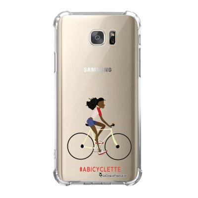 Coque Samsung Galaxy S7 anti-choc souple avec angles renforcés A Bicyclette Tendance La Coque Francaise