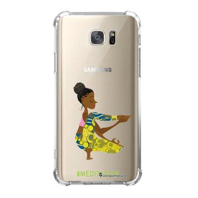 Coque Samsung Galaxy S7 anti-choc souple avec angles renforcés Méditation Tendance La Coque Francaise
