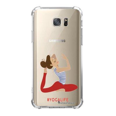 Coque Samsung Galaxy S7 anti-choc souple avec angles renforcés Yoga Life Tendance La Coque Francaise