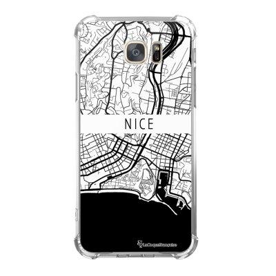 Coque Samsung Galaxy S7 anti-choc souple avec angles renforcés Carte de Nice Tendance La Coque Francaise