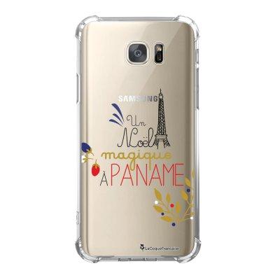 Coque Samsung Galaxy S7 anti-choc souple avec angles renforcés Un Noël magique à Paname Tendance La Coque Francaise