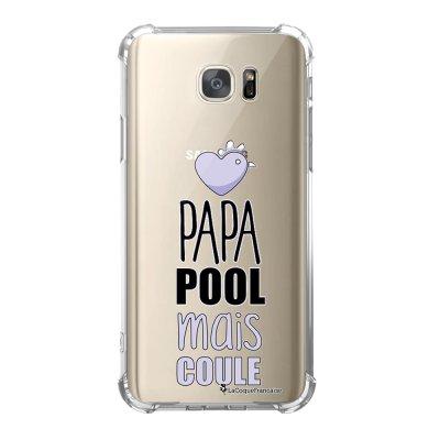 Coque Samsung Galaxy S7 anti-choc souple avec angles renforcés Papa pool coule Tendance La Coque Francaise