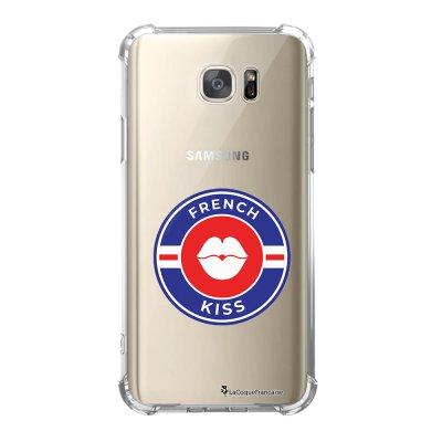 Coque Samsung Galaxy S7 anti-choc souple avec angles renforcés French Kiss 2019 Tendance La Coque Francaise