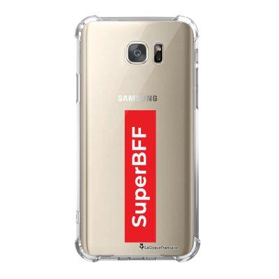 Coque Samsung Galaxy S7 anti-choc souple avec angles renforcés SuperBFF Tendance La Coque Francaise