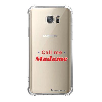 Coque Samsung Galaxy S7 anti-choc souple avec angles renforcés Call Me Madame Tendance La Coque Francaise