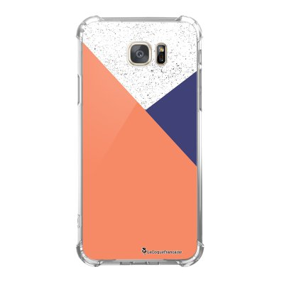 Coque Samsung Galaxy S7 anti-choc souple avec angles renforcés Trio Corail Tendance La Coque Francaise