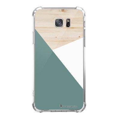 Coque Samsung Galaxy S7 anti-choc souple avec angles renforcés Trio bois vert Tendance La Coque Francaise