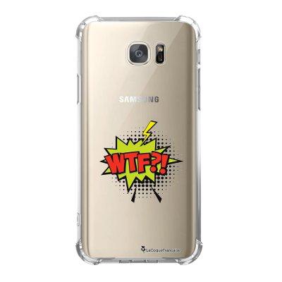 Coque Samsung Galaxy S7 anti-choc souple avec angles renforcés WTF Tendance La Coque Francaise