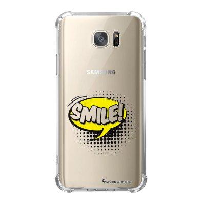Coque Samsung Galaxy S7 anti-choc souple avec angles renforcés SMILE Tendance La Coque Francaise
