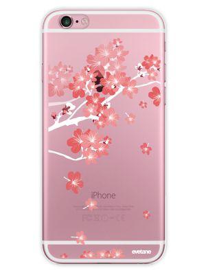 Coque rigide transparent Branche De Fleurs pour iPhone 6 / 6S