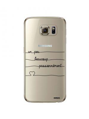 Coque rigide transparent Un peu, Beaucoup, Passionnement pour Samsung Galaxy S6