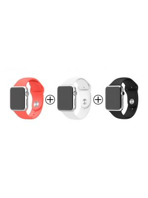 Lot de 3 bracelets en silicone pour Apple Watch 38mm