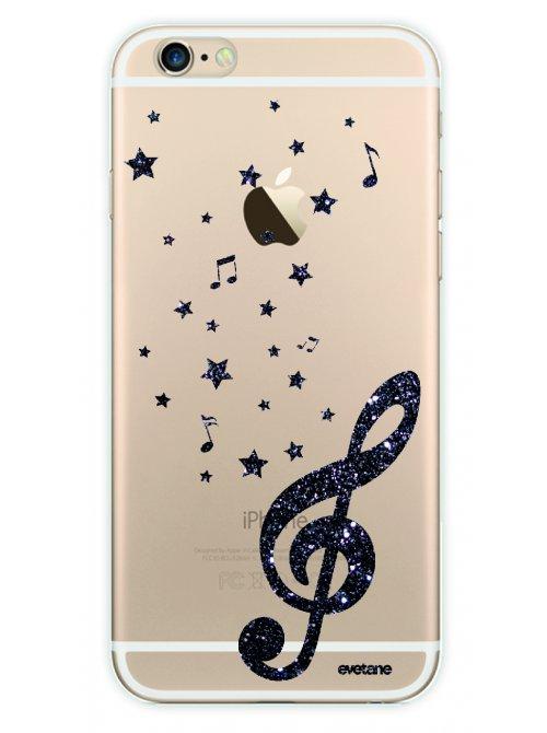 coque rigide transparent note de musique pour iphone 6 plus 6s plus