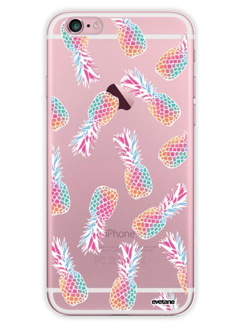 coque rigide transparent ananas pour iphone 6 plus 6s plus