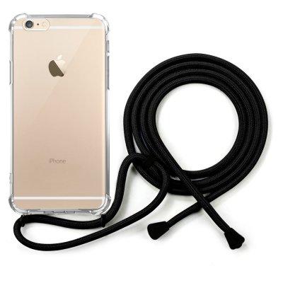 Coque iPhone 6/6S anti-choc silicone avec cordon noir