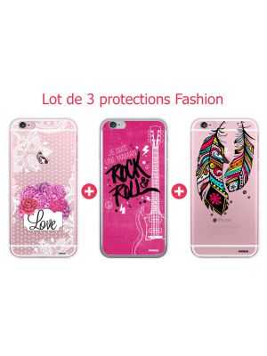 Lot de 3 coques Fashion pour iPhone 6/6S