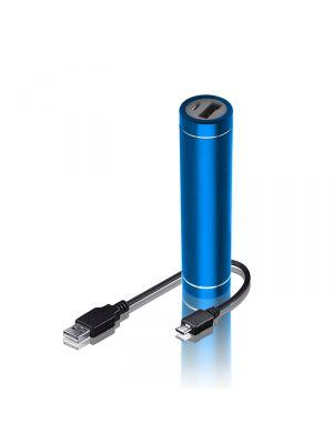 Batterie externe 2300 mAh ultra-compacte CYLINDRE bleue