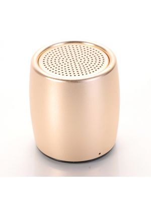 Mini enceinte portative Bluetooth - Effet métal brossé or