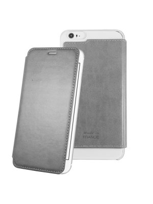 Muvit Made In Paris Etui Crystal Folio Iphone 6+/6s+ Silver