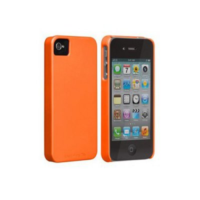 Coque Barely There orange de Case Mate pour iPhone4/4S