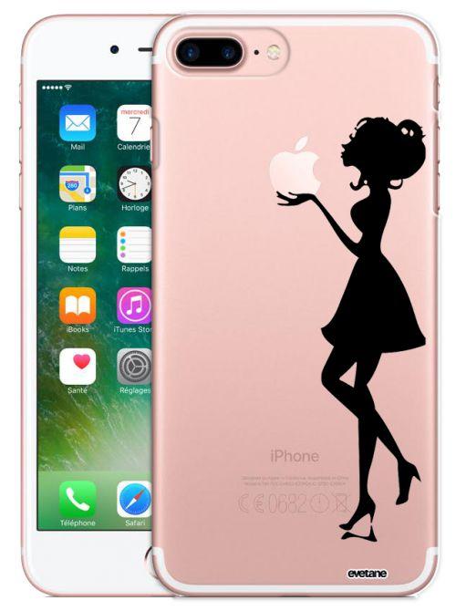 coque rigide transparent silhouette femme iphone 7 plus 8 plus