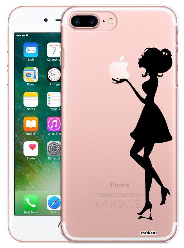Coque iPhone 7 Plus / 8 Plus rigide transparente Silhouette Femme ...