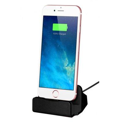 Dock de chargement et de synchronisation Lightning Black pour iPhone 5/5C/5S/SE/6/6S/6+/6S+/7/7+