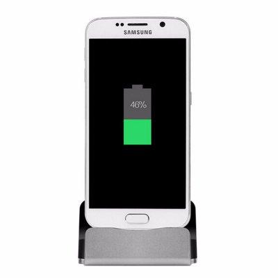 Dock de chargement et de synchronisation Micro USB Silver pour Samsung & Wiko