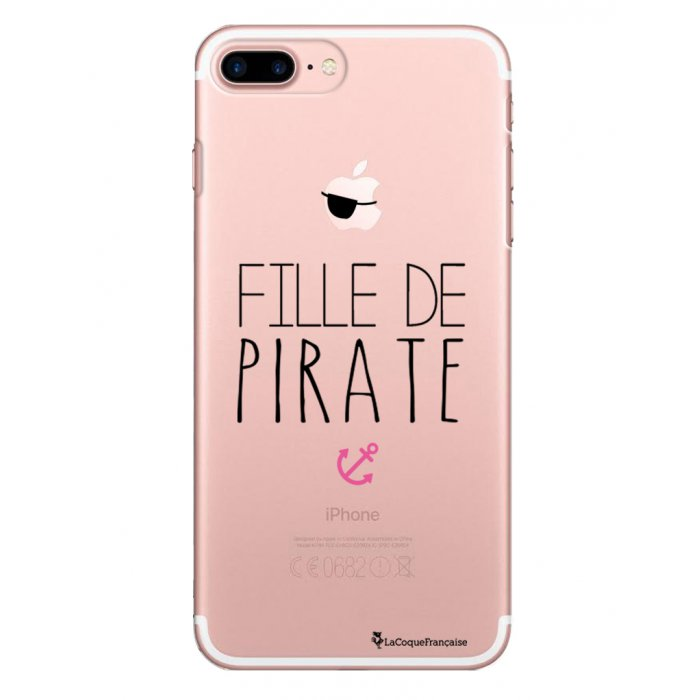 coque rigide transparent fille de pirate iphone 7 plus 8 plus