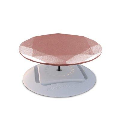 Ring Poignée et support universel de téléphone Perle en métal doré rose