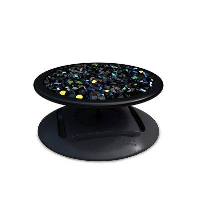 Ring Poignée et support universel de téléphone strass noir