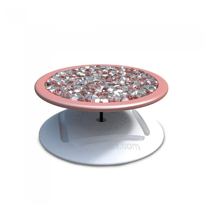 Ring Poignée et support universel de téléphone strass en or rose