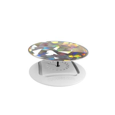 Ring Poignée et support universel de téléphone Hologramme cristal de diamant