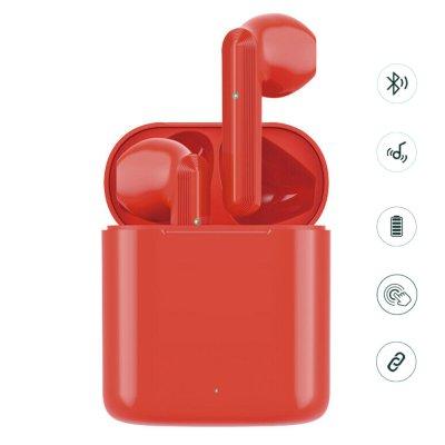 Écouteurs Sans Fil avec Boîtier de Charge- Bluetooth 5.0 / 450mAh rouge