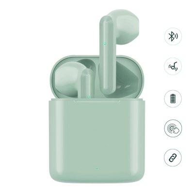 Écouteurs Sans Fil avec Boîtier de Charge- Bluetooth 5.0 / 450mAh vert d'eau