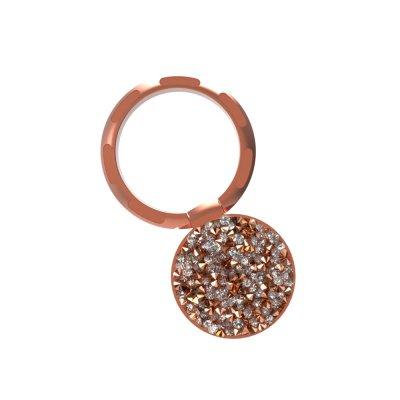 Ring Poignée universelle de téléphone à anneau strass en or rose