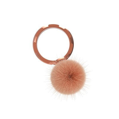 Ring Poignée universelle de téléphone à anneau Rose d'or Pompon
