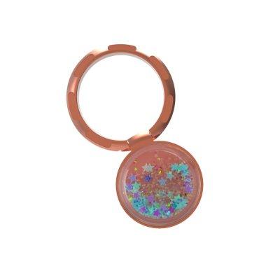 Ring Poignée universelle de téléphone à anneau paillettes liquides bleu or rose