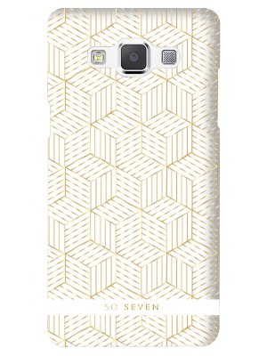 So Seven Coque Midnight Cubic Blanche - Samsung Galaxy A3