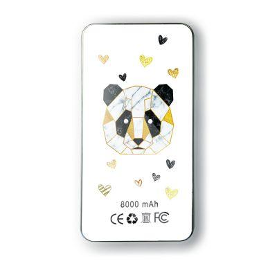 Batterie Batterie verre trempé 8000mAh Panda Géométrique Motif Ecriture Tendance Evetane
