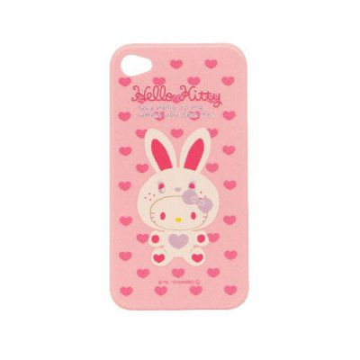 Coque arrière Hello Kitty lapin blanc pour iPhone 4 / 4S