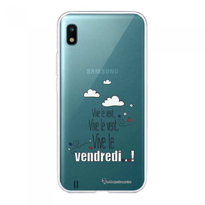 Coque Samsung Galaxy A10 360 intégrale transparente Vive le vendredi Ecriture Tendance Design La Coque Francaise