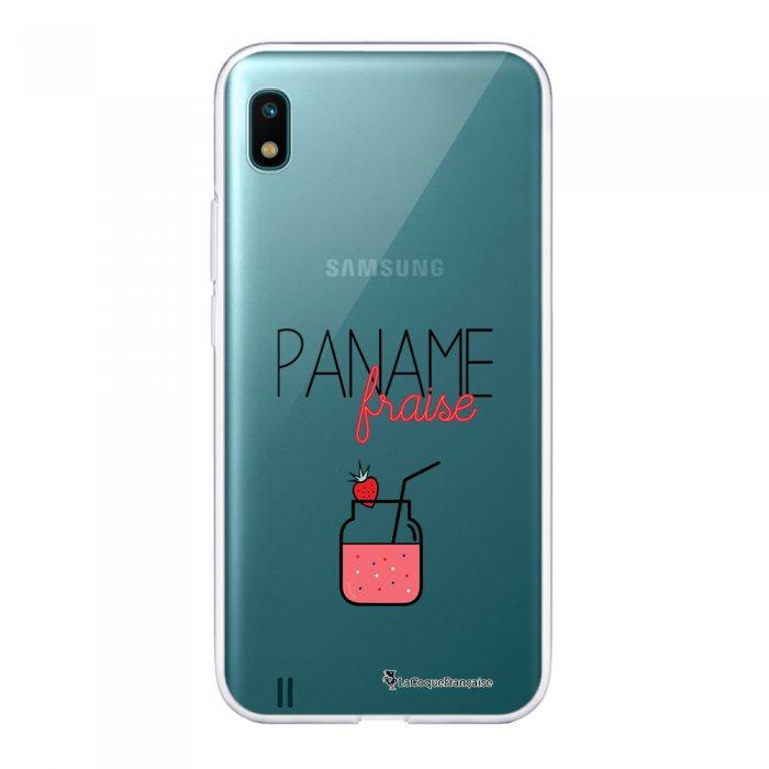 Coque Samsung Galaxy A10 360 intégrale transparente Paname Fraise Ecriture Tendance Design La Coque Francaise