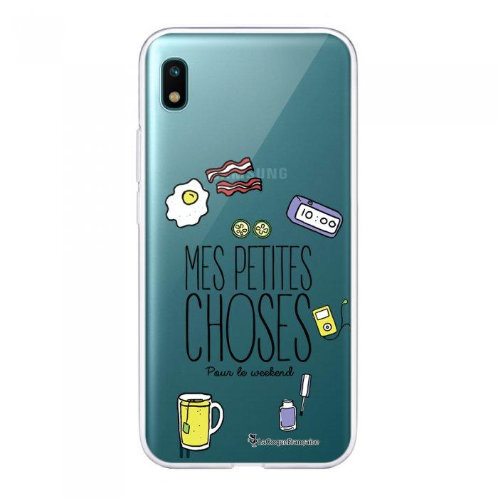 Coque Samsung Galaxy A10 360 intégrale transparente Pour le Week-end Ecriture Tendance Design La Coque Francaise
