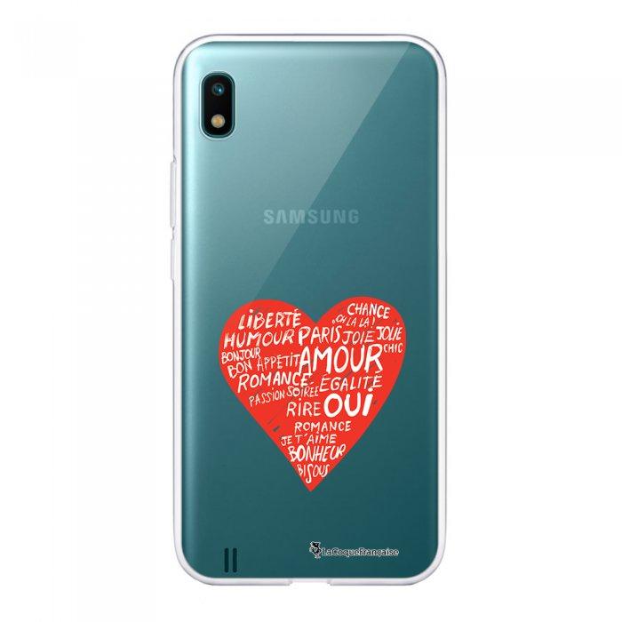 Coque Samsung Galaxy A10 360 intégrale transparente Coeur Ecriture Tendance Design La Coque Francaise