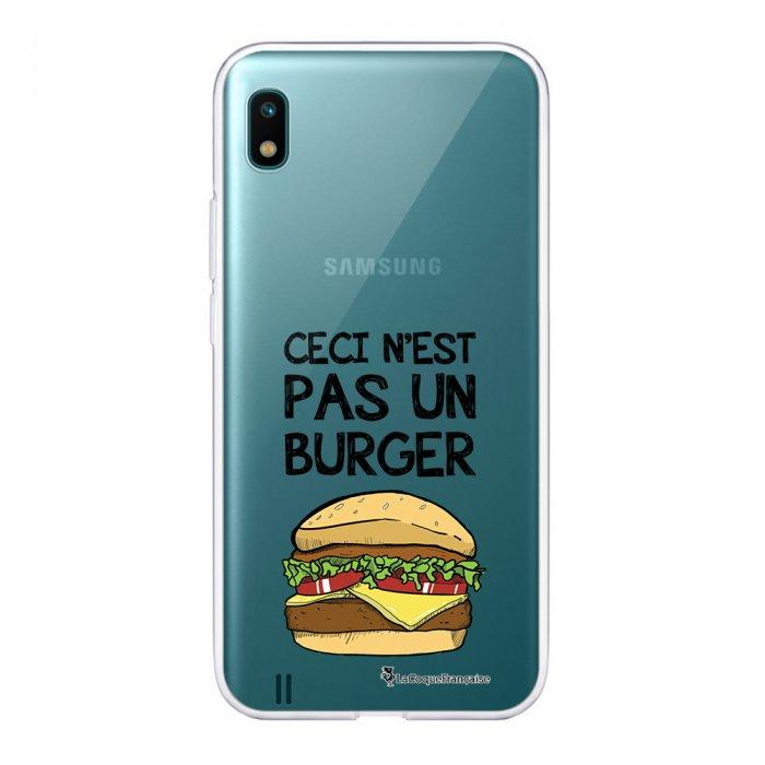 Coque Samsung Galaxy A10 360 intégrale transparente Ceci n'est pas un Burger Ecriture Tendance Design La Coque Francaise.