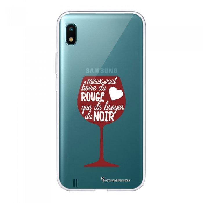 Coque Samsung Galaxy A10 360 intégrale transparente Mieux Vaut Boire Ecriture Tendance Design La Coque Francaise