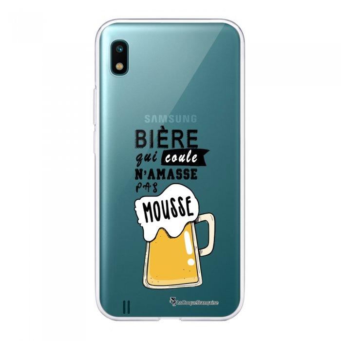 Coque Samsung Galaxy A10 360 intégrale transparente Bière qui Coule Ecriture Tendance Design La Coque Francaise