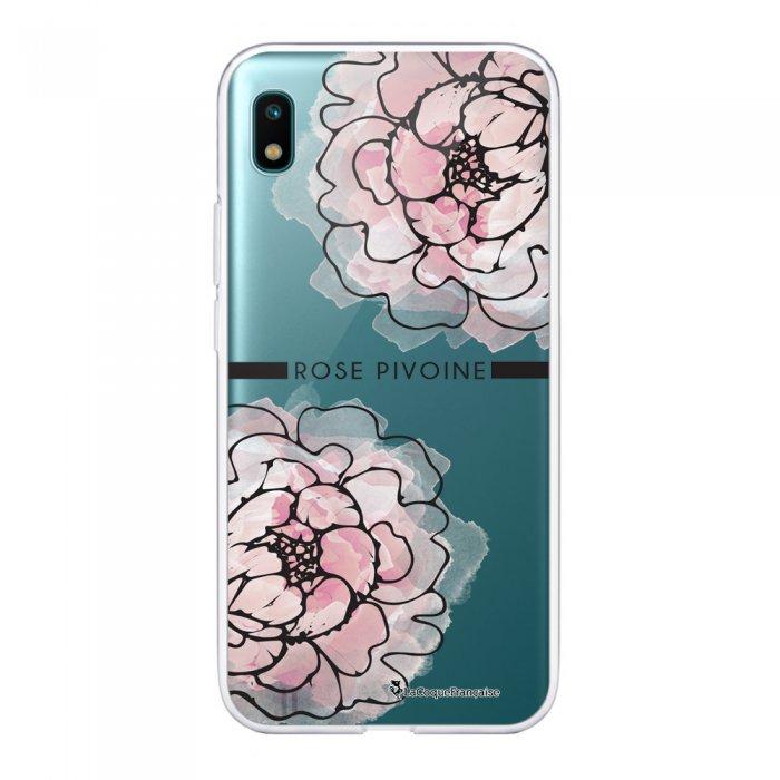 Coque Samsung Galaxy A10 360 intégrale transparente Rose Pivoine Ecriture Tendance Design La Coque Francaise