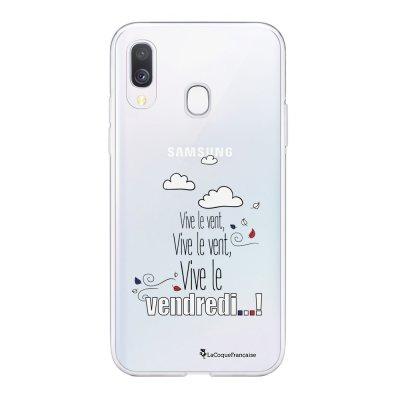 Coque Samsung Galaxy A20e 360 intégrale transparente Vive le vendredi Ecriture Tendance Design La Coque Francaise